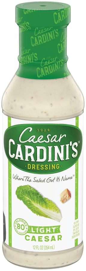 LightCaesar12oz - Cardini's 80 Calorie Dressing 12 oz.