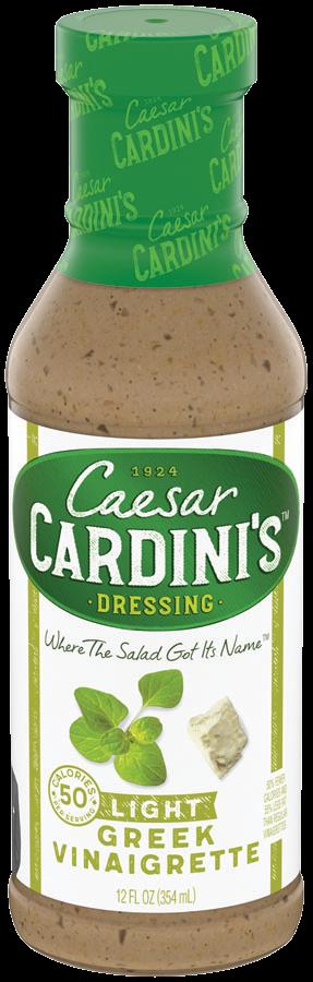 LightGreekVinaigrette12oz - Cardini's 50 Calorie Vinaigrette 12 oz.